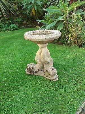 Decorative stone garden bird bath