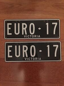 Personalized Vic. number plates - EURO17. Suit Euro 2017 build car. Mornington Mornington Peninsula Preview