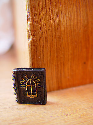 DOLL HOUSE 12th SCALE METAL 'HOLY BIBLE' !! BID NOW & DON'T MISS OUT !! BARGAIN.