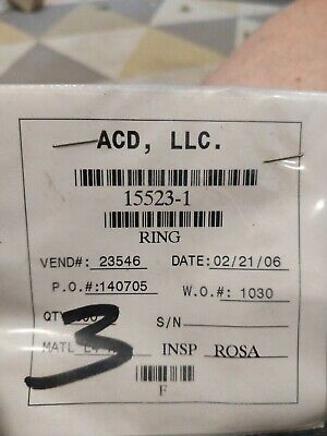 Acd Ring 15523-1 Lot Of 3. Box 2. New
