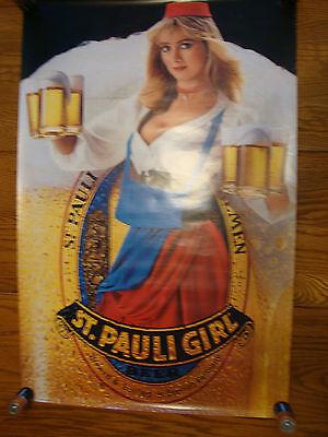 ST PAULI GIRL  GERMAN BEER POSTER  1984