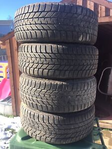 p205/50/17 inch Bridgestone Winter Tires on Rims / GOOD DEAL