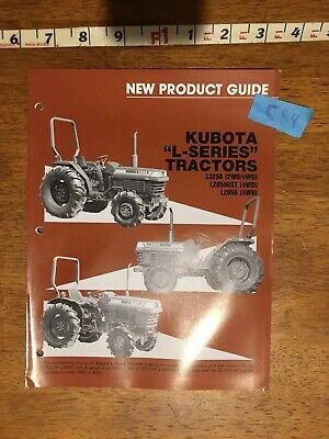 Kubota L-series Tractors New Product Guide Catalog -9 Pages