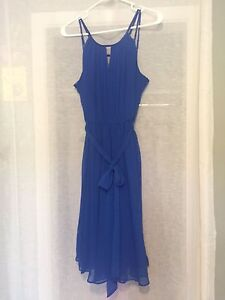 Horizon Blue David's Bridal bridesmaid dress (size 10)