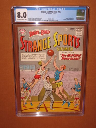 The Brave & The Bold #46 CGC 8.0! Only 16 higher CGCs, ever! BASKETBALL 12 HDpix