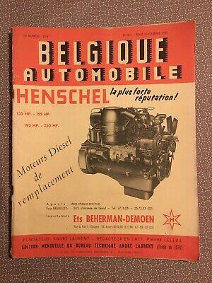 [11680-M40] Belgique Automobile 1961 Renault 4CV Isard S 1004 Mercedes Triumph