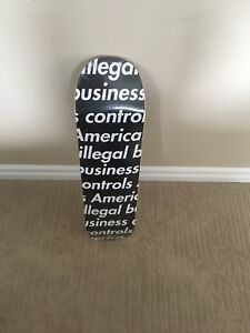 Illegal business supreme skateboard deck