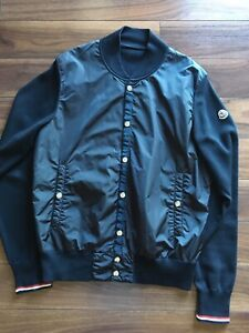 Moncler Maglione bomber jacket in Navy blue size M