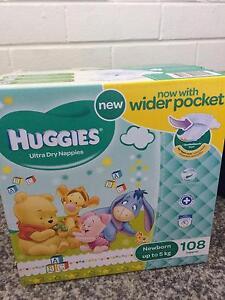 Huggies nappies - new born - upto 5 kg - 108 pcs box Mosman Park Cottesloe Area Preview