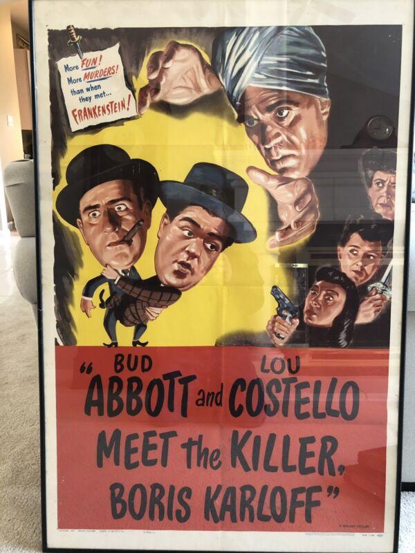 Abbott And Costello Meet The Killer 1949 Film Boris Karloff Original Poster