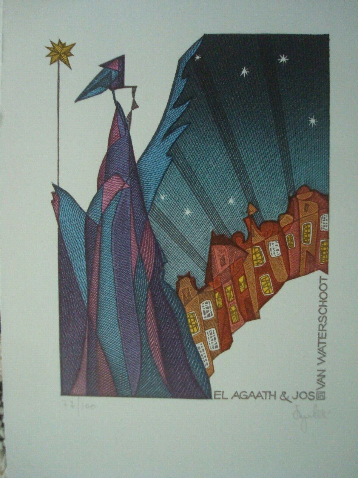 Gennady PUGACHEVSKY -- EX LIBRIS -- City  - $8.75