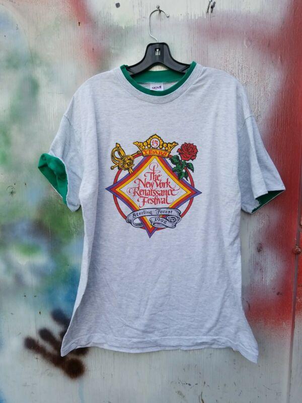 Vintage 90s New York Sterling Renaissance Festival T-Shirt Size Xl