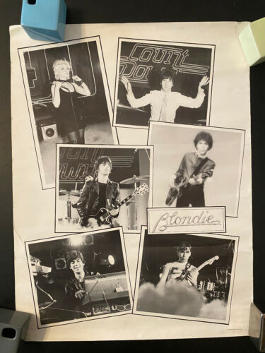 Blondie 1979 black and white rolled poster all 6 Parallel Lines era