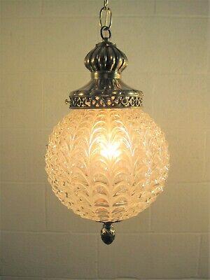 Tall cone clear glass lamp shade 17.5cm