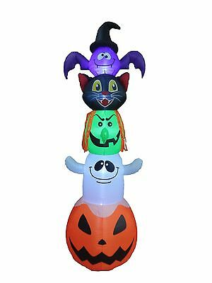 8 Foot Halloween Inflatable Bat Cat Witch Ghost Pumpkin Blow up Yard Decoration