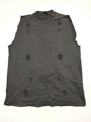 Damir Doma Distressed Sleeveless Shirt Back Zip Pocket