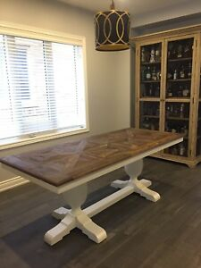Restoration Hardware Reclaimed Wood Handcrafted Dining Table