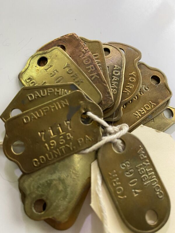 vintage Dog Tags 20+ From 60's