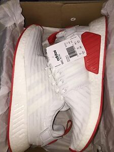 "Adidas nmd r2 pk white/red ""two toned"""