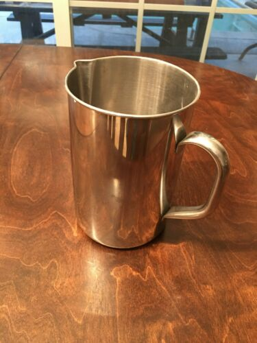 VOLLRATH 8103 Stainless Steel water pitcher industrial 3 QT vintage