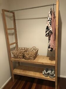 Open wooden clothes rack/shelving