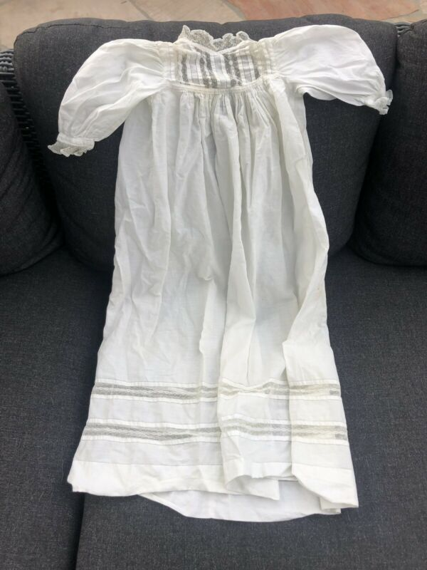 Antique Christening Gown 30""