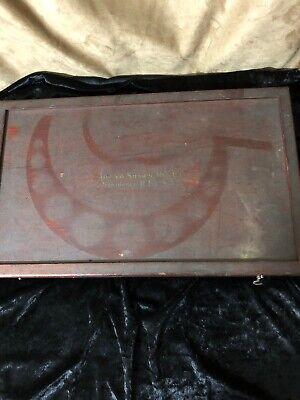 Antique Brown Sharpe 14 Piece Micrometer Caliper Set In Original Wooden Case