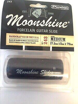 Dunlop Moonshine Porcelain Slide Medium Acoustic, Lap Steel Or Electric Guitar