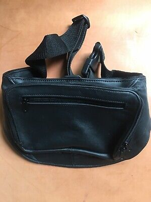 Concealed Carry Fanny Pack #301 CCW Black Cowhide Leather--Triple K Brand New