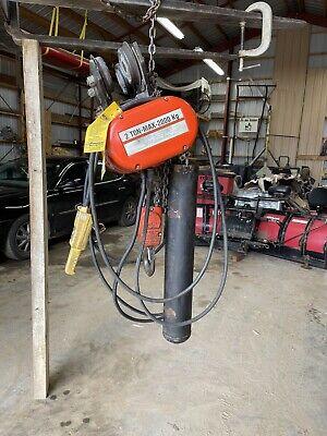 Cm Lodestar Model Rr 2 Ton 4000lb Electric Chain Hoist 3ph 2 Speed 20 Lift 1090