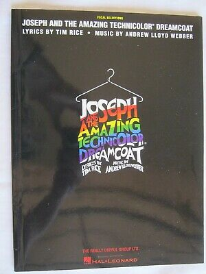 Joseph and the Amazing Technicolor Dreamcoat Webber Rice Vocals Sheet Music