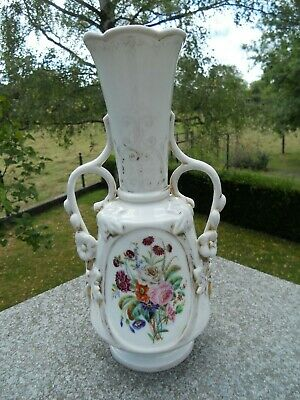 SUPERBE GRAND VASE EN PORCELAINE ANDENNE BRUXELLES 31CM IMPECCABLE