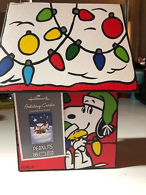 Peanuts Snoopy Hallmark Deluxe Christmas Holiday Cards. Seals Envelopes
