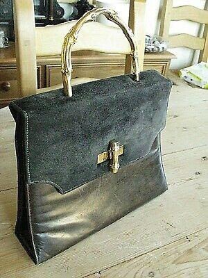 Vintage Gina Calf Leather & Suede Handbag - Very Good condition