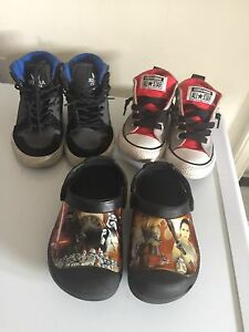 3 pairs boys shoes