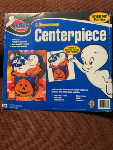 NIP Mello Smello 3D Casper The Friendly Ghost Halloween Centerpiece Harvey Toons