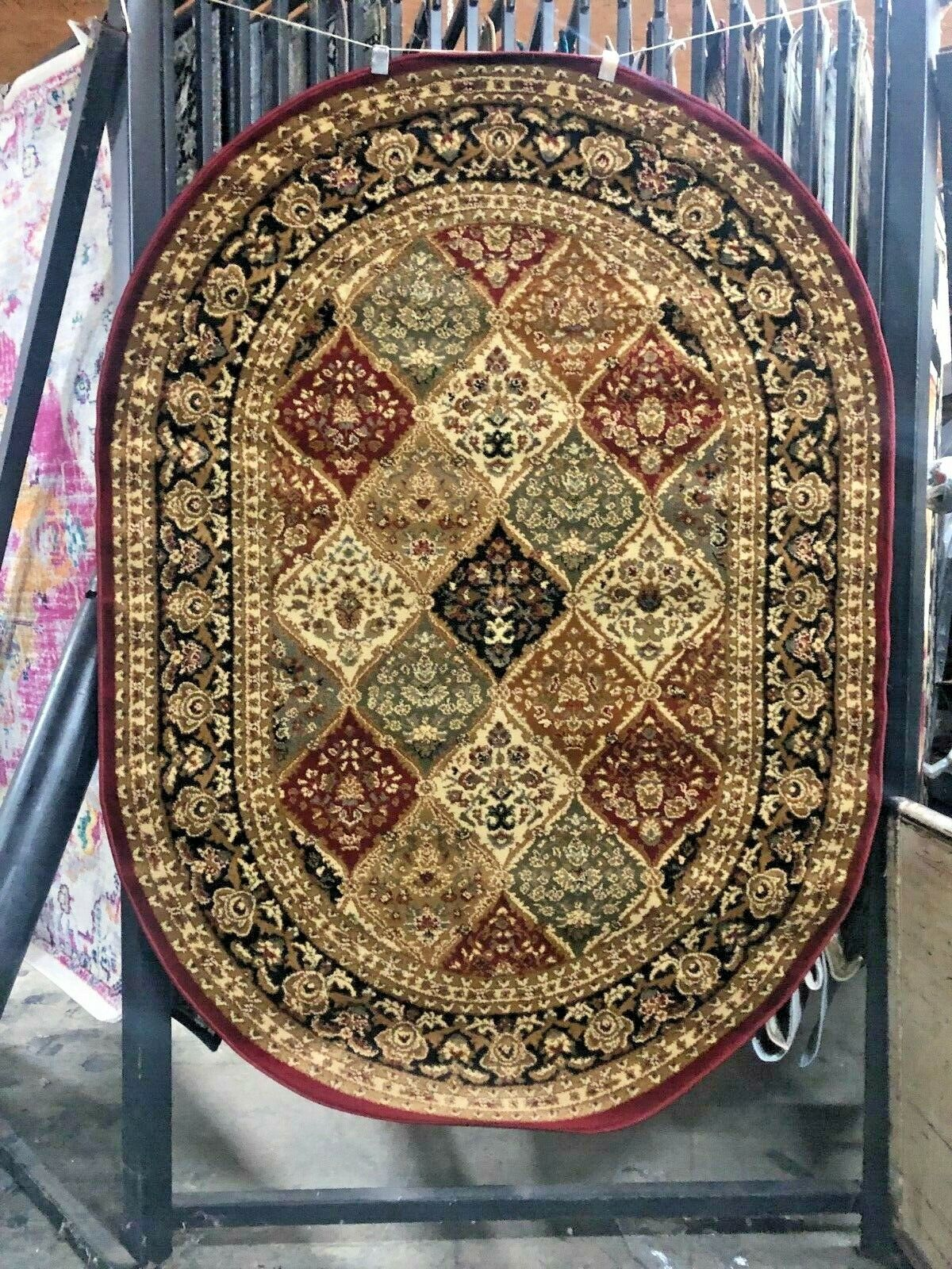 PANEL OVAL 5X8 AREA RUG FOR THE HOME ~~NEW~~