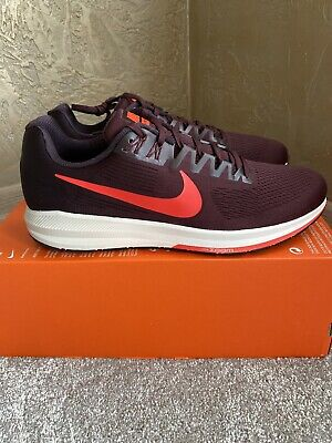 Nike Air Zoom Structure 21 Uk12/eur47.5 Burgundy Running Trainers