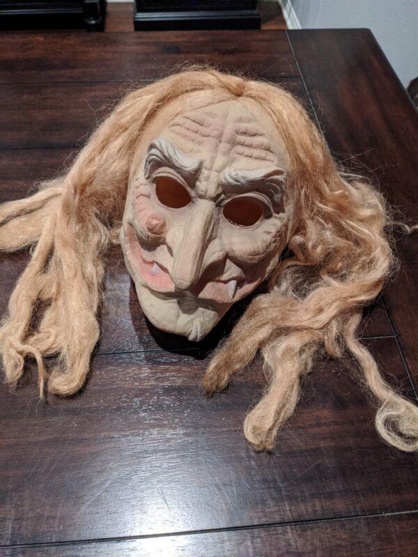 Cesar Witch Mask Halloween vintage old