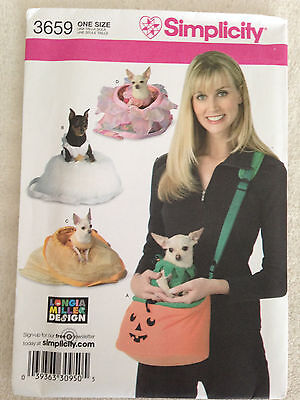 OOP S 3659 Tea Cup small Dog Pet carrier purse tote costume pattern UNCUT Dog Pet Carrier Teacup