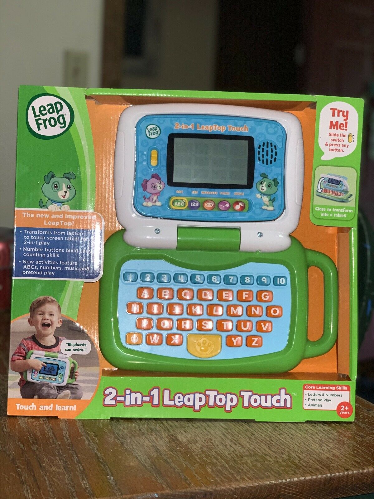 BRAND NEW LeapFrog 2-in-1 LeapTop Touch Green