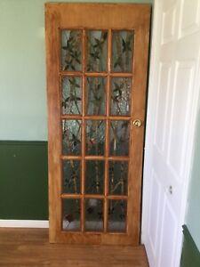 Porte intérieur en vitrail