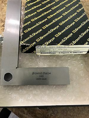 Brown And Sharpe 599-540-4-2 4 Bevel Edge Square