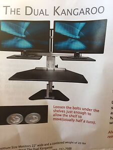 Ergo Dual Kangaroo Stand Up Desk Manly Manly Area Preview