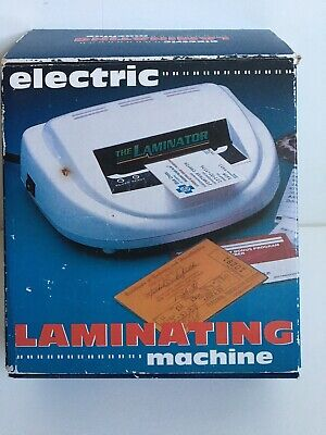 Electric Laminating Machine The Laminator With Sheets Pre Owned Working Well
