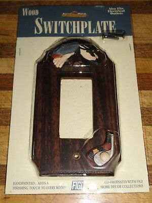 Rocker Theme (NEW IN PACKAGE GOLF THEME ELECTRICAL ROCKER SWITCH OR SQUARE OUTLET WOOD)