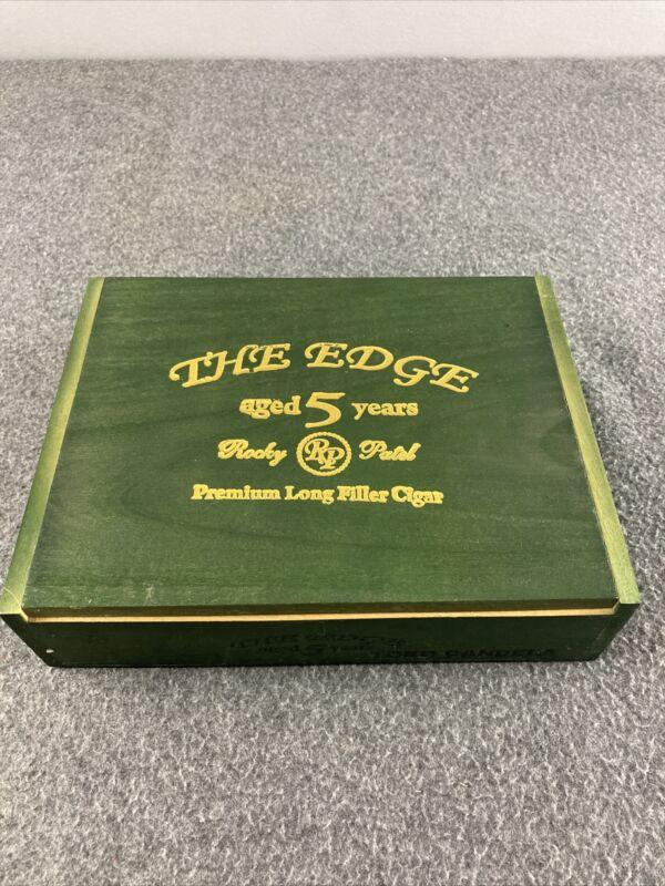 Cigar Box - The Edge / Rocky Patel Hand Made in Honduras Green Wood Empt Box
