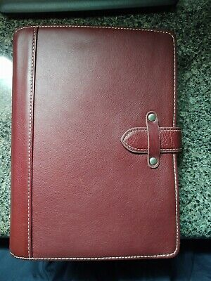 Franklin Covey Classic Leather Binder W Extras