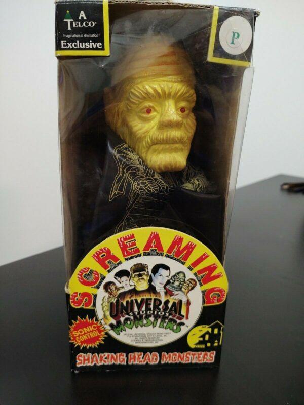 Universal Studios Monsters Mummy Screaming Shaking Head Monsters In Box