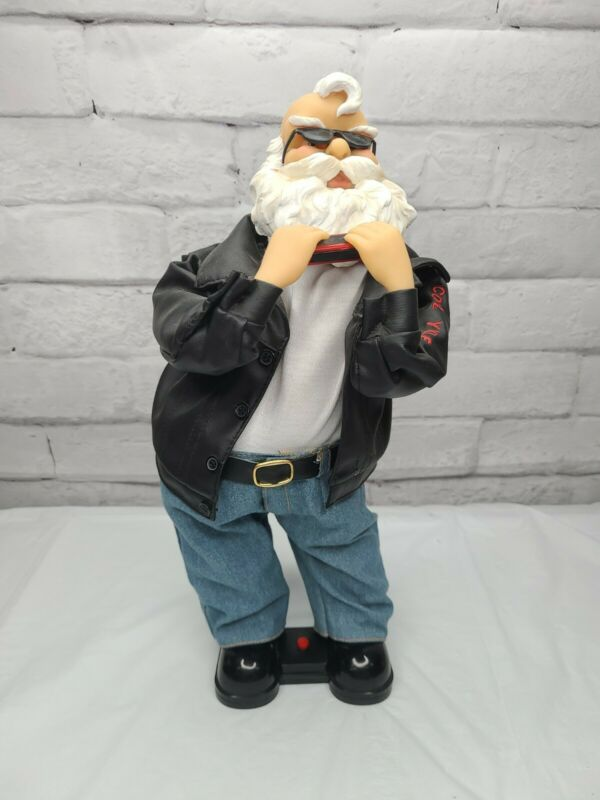 """Holiday Time HARMONICA Playing Santa Claus Animated in NO Box 16"""" - AS IS"""
